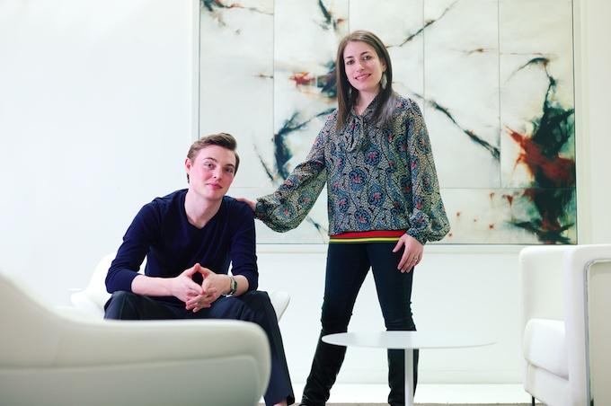 The formidable team of nAscent Art (L-R) Cole Harrell and Jennifer Wallace Co-Founder & Director of Art (MN)