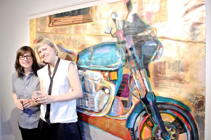 (L-R) Artist Karen Heagle & Rachel Churner of CHURNER & CHURNER