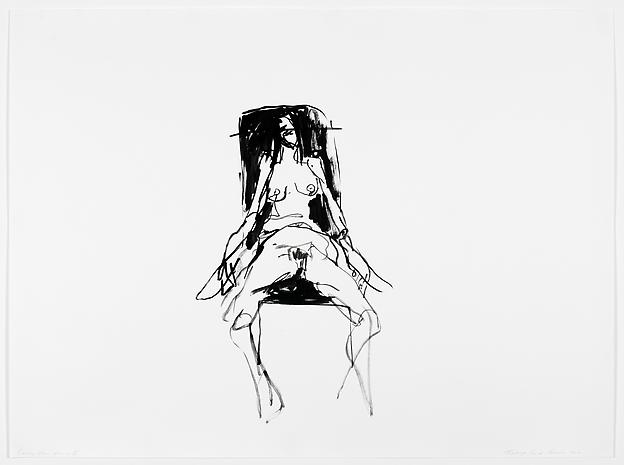 TRACEY EMIN Lonely Chair drawing V, 2012 gouache on paper 39.96 x 53.94 inches 101.5 x 137 cm