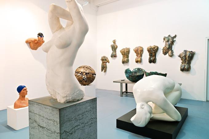 The studio of Carole Feuerman at Mana Contemporary