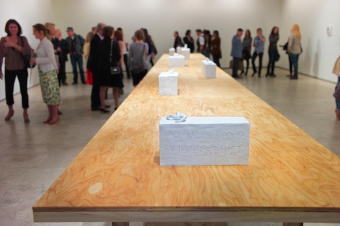Tracey Emin opening at Lehmann Maupin Gallery in Chelsea NYC