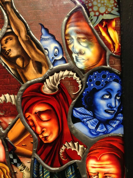 The Battle of Carnival and Lent (Detail) Stained Glass Lightbox 56 x 56 inches | 142.2 x 142.2 cm.The Battle of Carnival and Lent (Detail) Stained Glass Lightbox 56 x 56 inches | 142.2 x 142.2 cm.