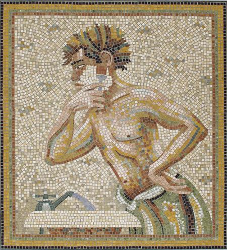 Phyllis Gay Palmer; Morning Shave, 2007 Mosaic, 3/8 inch Marble tileMosaic, 3/8 inch Marble tile 42 x 38 inches; 106.7 x 96.5 cm