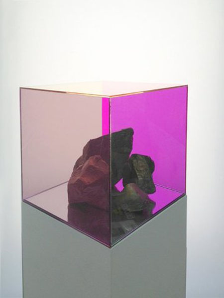 "Ryan Wallace Consensus (Bronze), 2013 Alumilite resin, enamel, automotive-tint, Plexiglas and Mdf 48"" x 10"" x 10"""