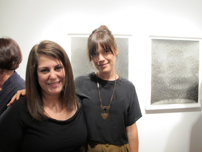Amy Sande-Friedman of Von Lintel Gallery (L) with one of the artists