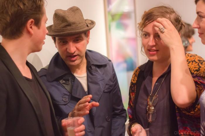 An Impromptu Art Forum between (L-R) Magnus Pettersen, Fedele Spadafora and Curator Maud Jacquin