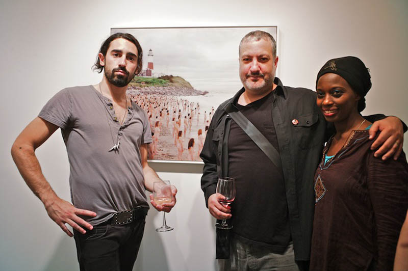 Artist Joseph Wolf Grazi (L) came to meet Spencer Tunick (R) who had work in the show