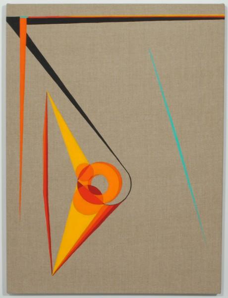 Eamon Ore-Giron 'Wupatki', 2013 Flasche paint on linen 24 x 18 inches