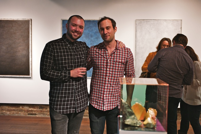 Artists Matt Mignanelli & Ryan Wallace at their opening for An exhibition of New York curated by Jessica Hodin at Bleecker Street Arts Club