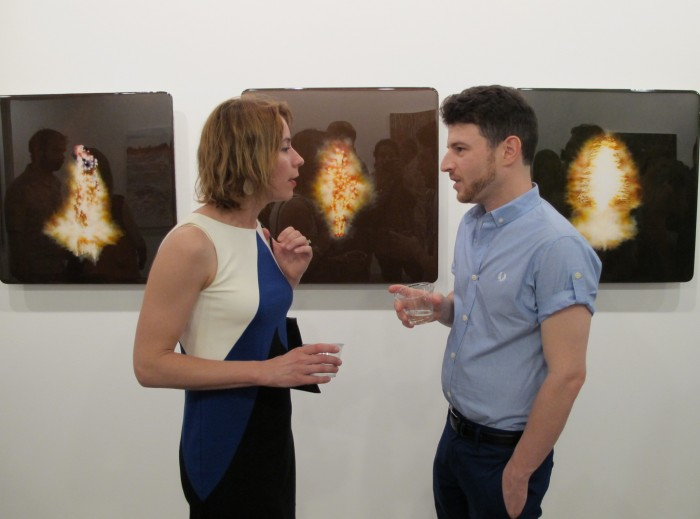 The artwork and attendees are equally smoldering at Ryan Lee Gallery