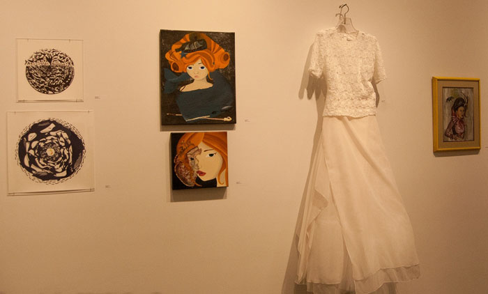 Donated artwork from paper cutting to couture