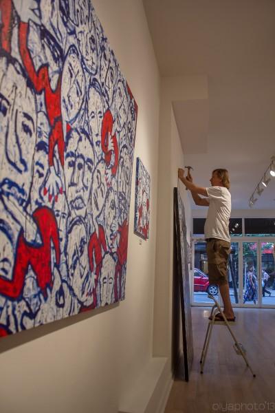 Installation Day at Van der Plas Gallery