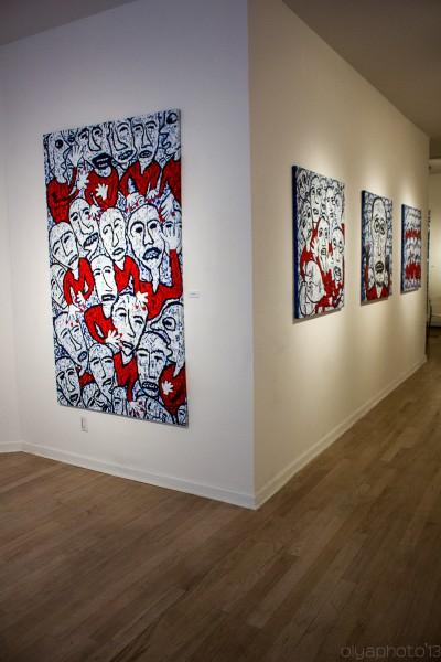 Installation View of Johan Wahlstrom show at Van der Plas Gallery