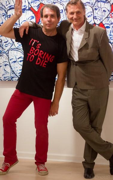 (L-R) Artist Johan Wahlstrom and Gallerist Adriaan Van der Plas