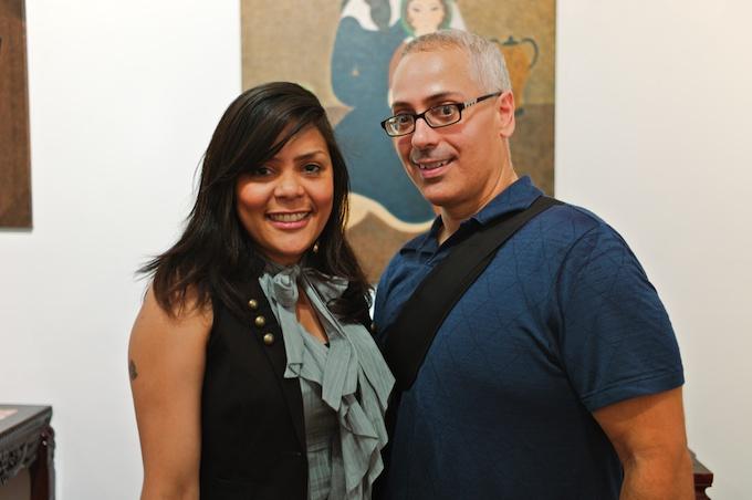 (L-R) Artist Monica Tavarez with Erick Sanchez