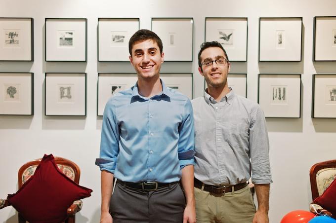 (L-R) Artist William Steinberg with friend Doug Steinberg