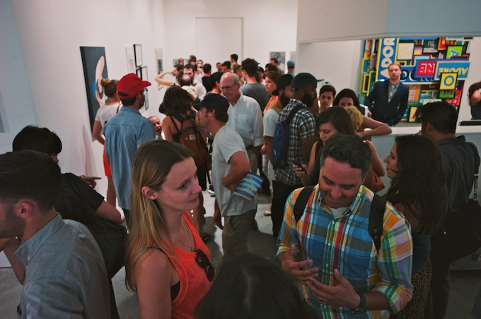 Overview of an Art Opening at Joshua Liner Gallery