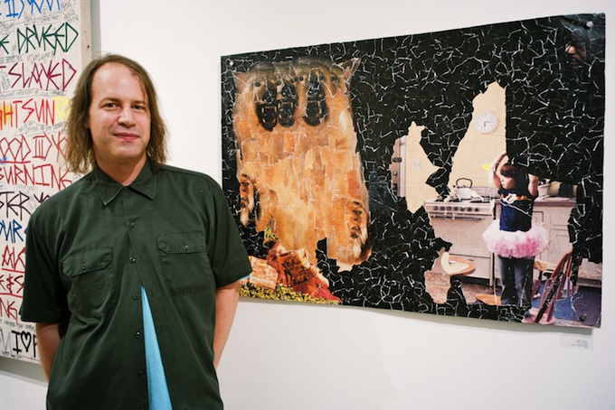 Artist Michael Anderson at the #PPP opening in ROX Gallery