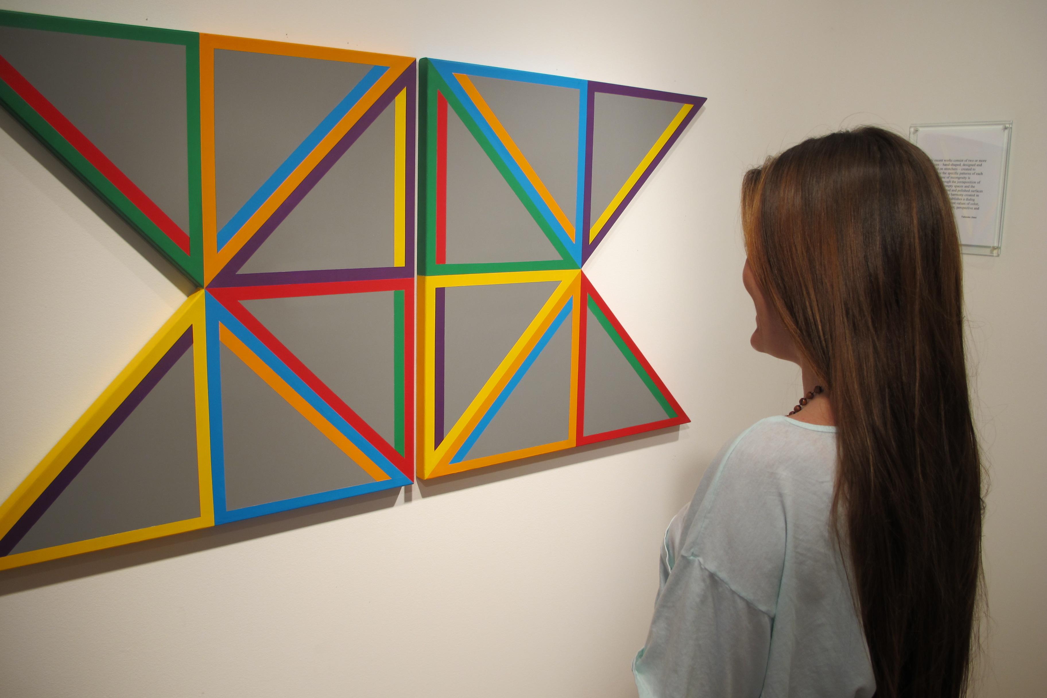 Gray Triangle - Urethane, Acrylic 30x61 inches