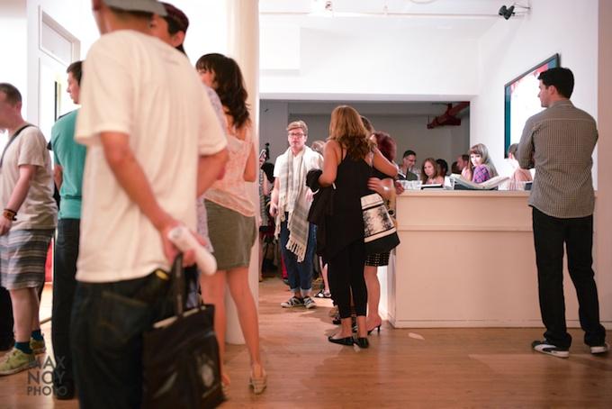 Opening Night at Agora Gallery