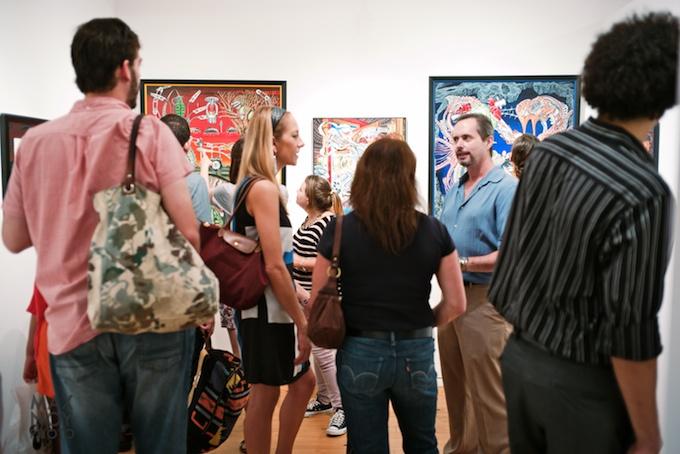 Opening Reception Night at Agora Gallery