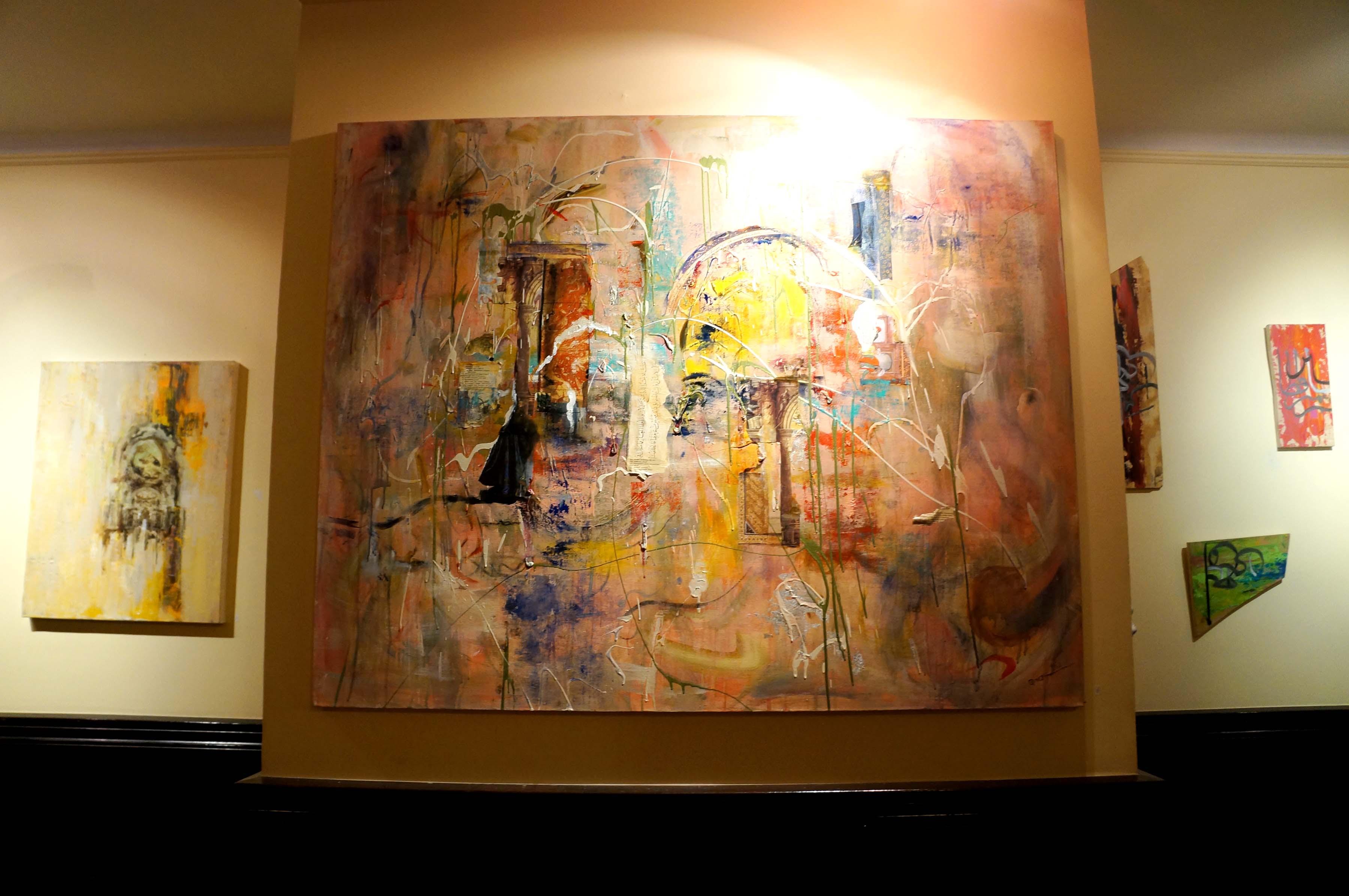 Paintings by Qinza Najm