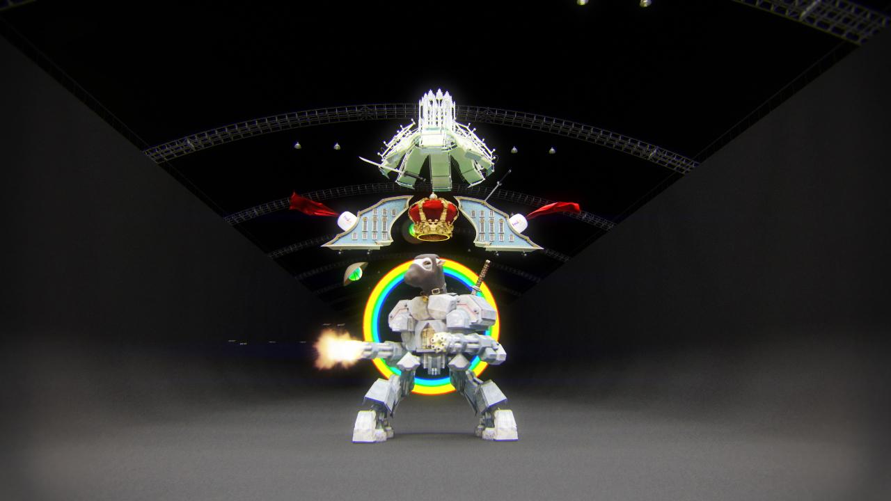 Robot Ninja, 2013, still from single channel video installation with HD CGI animation