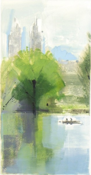 Lisa Breslow, Central Park Afternoon 7, 2012 Monotype, 18 x 13 inches