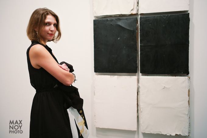 Breakfast at Tiffany's_ No it is artist Colleen Blackard at Margaret Thatcher Projects