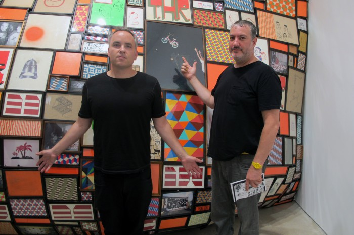 (L-R) Artist and publisher Noah Becker with Artist Spencer Tunick