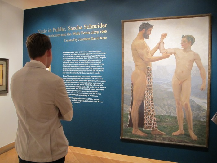 Male nude and homoeroticism
