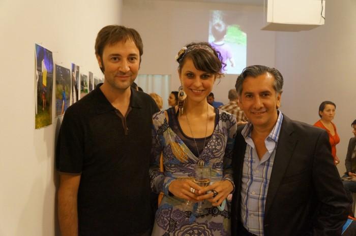 (L-R) Ramon Pujol (Sound engineer) Veronica Santi (curator) Vincent Zambrano (artist)