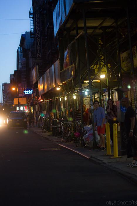 Orchard Street Gallery Row at Night (OT)