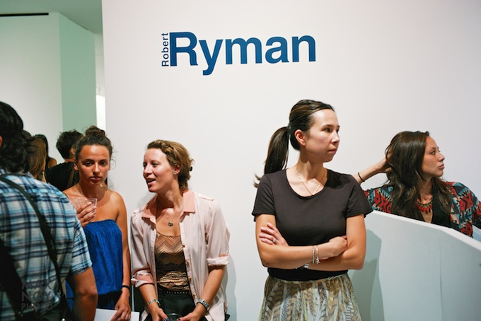 Robert Ryman opening at PACE Gallery on West 25th