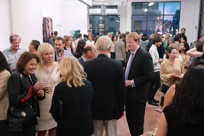 The art crowd at Jack Geary Contemporary