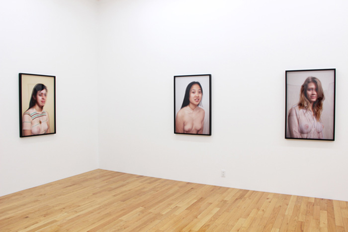 Installation shot of Richard Kern's work at Feature Inc.