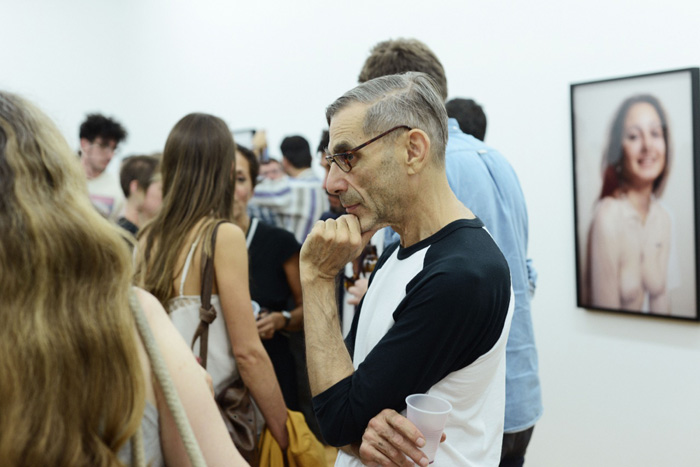 Guest at Richard Kern's opening
