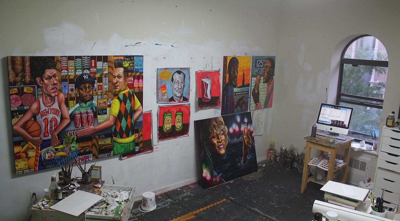 Tom Sanford's studio