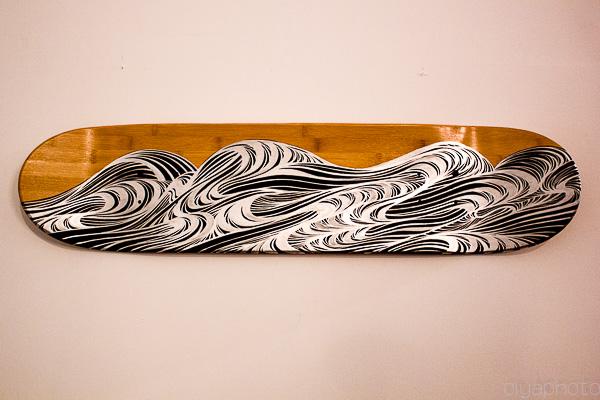hand-painted skateboards by David Ellis