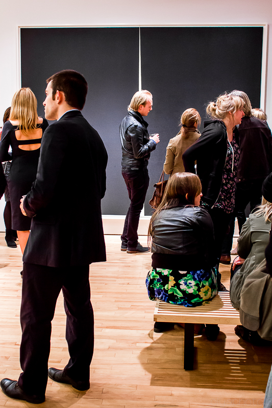 Opening Reception for Richard Serra is elegance in BLACK