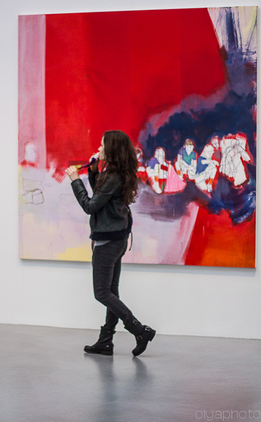 Red is hot at Petzel Gallery at Thomas Eggerer opening reception
