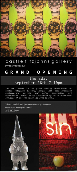 Grand Opening of Castle Fizjohns Gallery