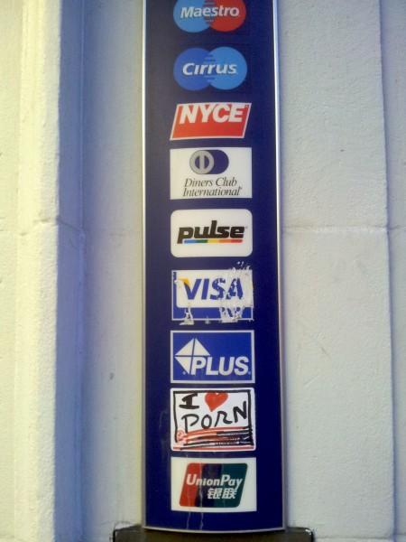 Totem, 2013, sticker intervention