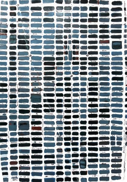Barbara Macfarlane, Midtown Slate, 2013, Oil and Ink on Handmade Paper