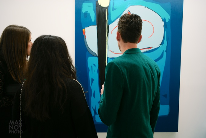 Colour Riche Indeed at the opening for William Bradley at Galerie Richard