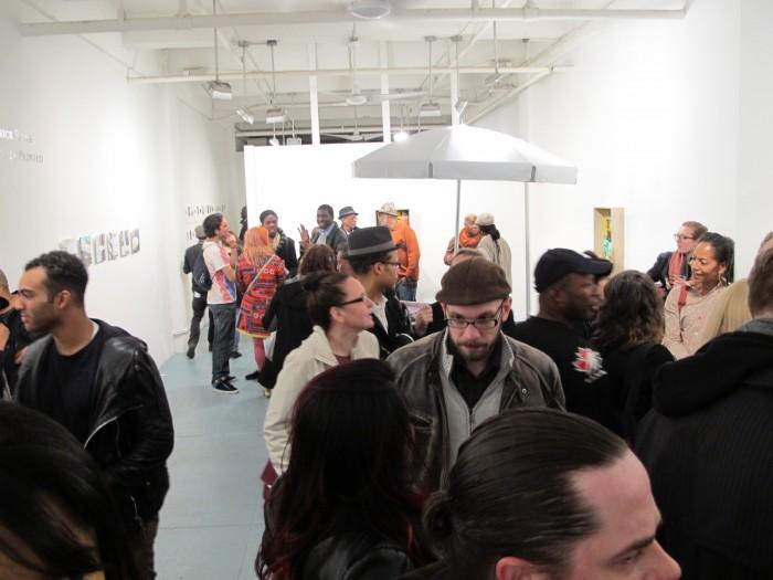 Lots of people enjoying the opening