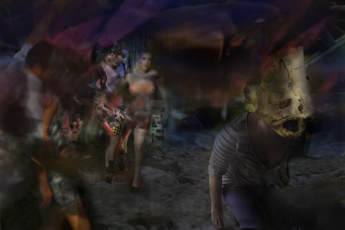 "Jessica Speckhard,""Follow the Reaper"" dimensions: 48""W x 32.006""H"