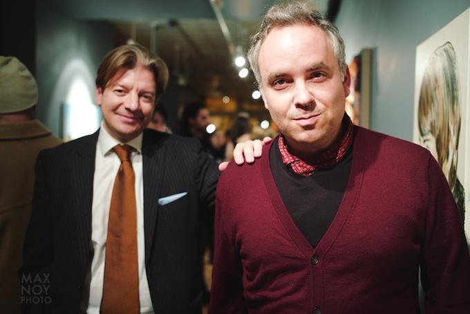 Owner Konstantinos Manolakis and artist Noah Becker