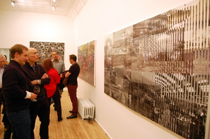 A concurrent crowd came to see the exhibition