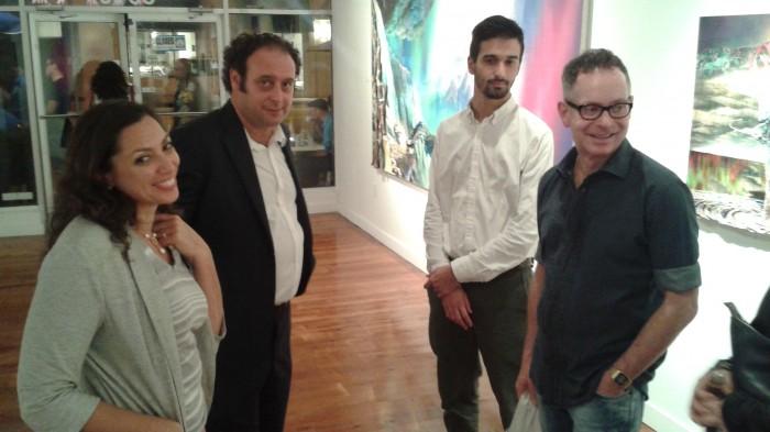 Art Britannia Producer Karelle Levy, Curator Ben Austin and friends